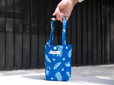 包包提袋-小車噗噗快速收納防水飲料提袋