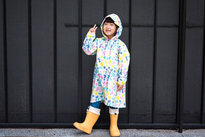 SweetThing動物森林米白色兒童風衣