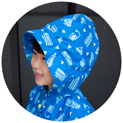 兒童風雨衣防風帽簷