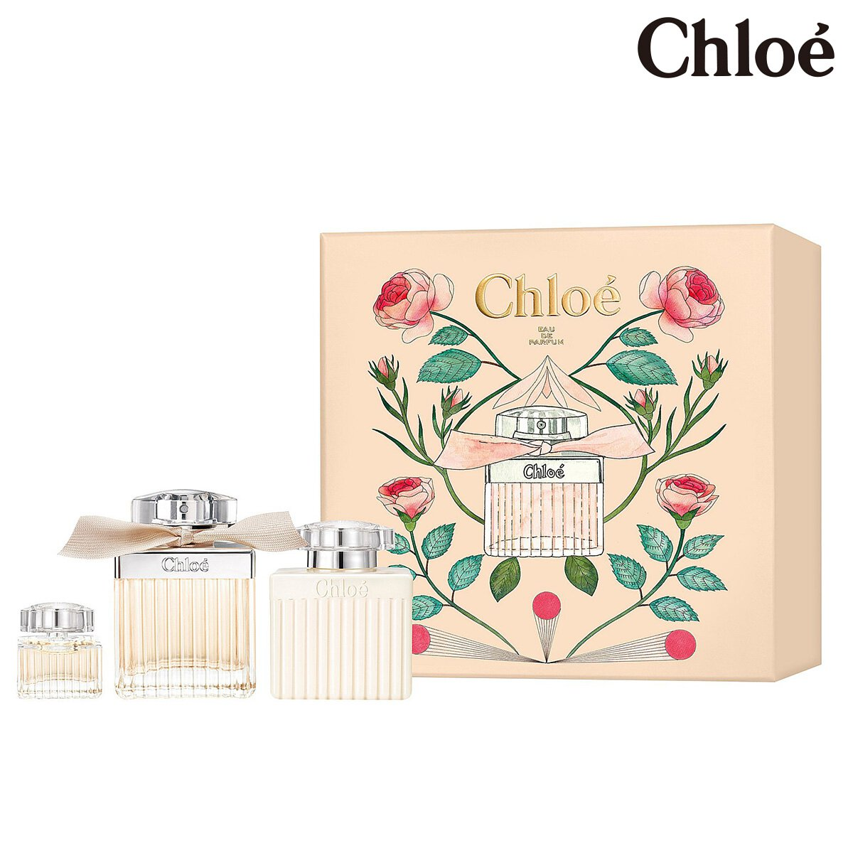 Chloe 同名女性淡香精禮盒 (淡香精75ml、身體乳100ml、小香5ml)