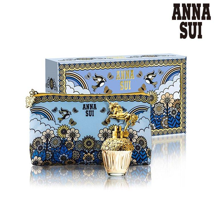 ANNA SUI 獨角獸童話禮盒 (淡香水30ml+愛情鳥化妝包)