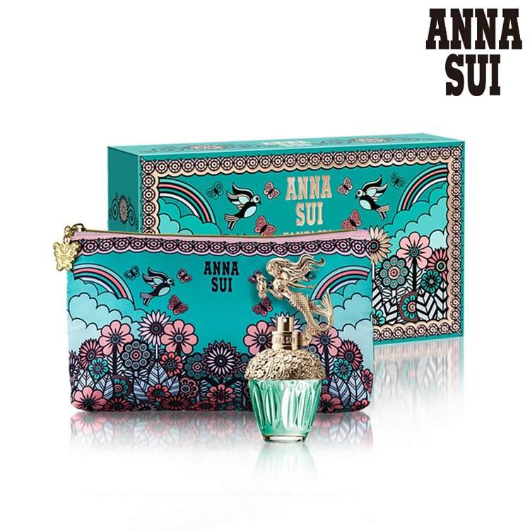 ANNA SUI 美人魚童話禮盒 (淡香水30ml+愛情鳥化妝包)