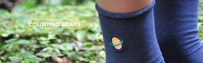 襪子 系列2 數遍天上星星 counting stars 刺繡星環