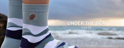 海龜刺繡襪子