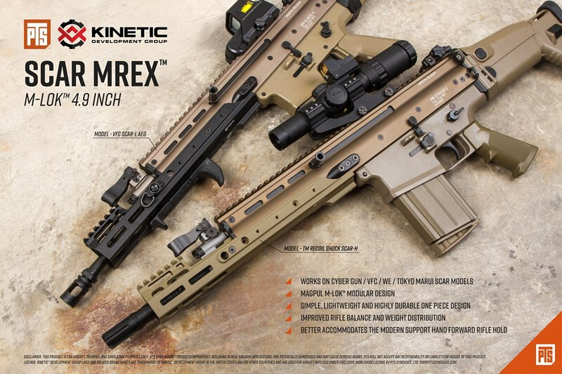 "PTS Kinetic™ SCAR MREX™ M-LOK 4 9"" Rail"