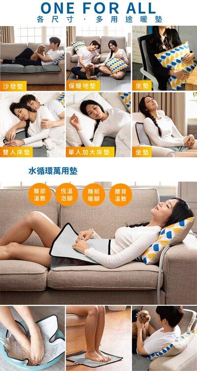 康森水循環暖墊:ONE FOR ALL 各尺寸,多用途保暖,腹部溫敷、恆溫泡腳、睡前暖腳、腰背溫敷
