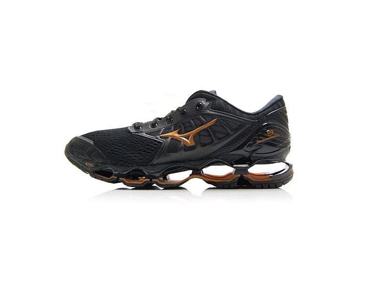 Black Mizuno Wave Prophecy 9 Mens Running Shoes