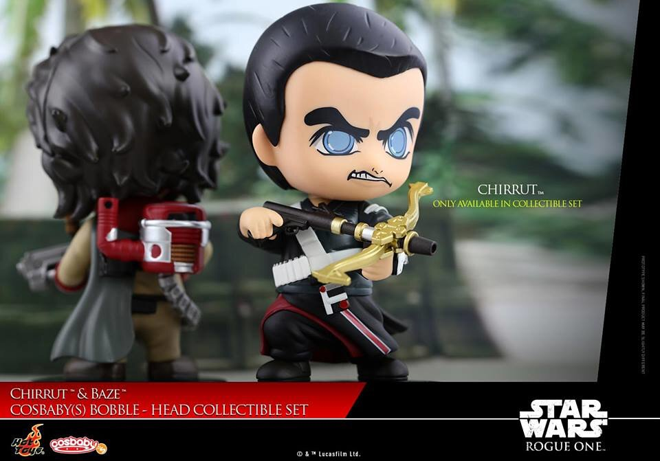 Hot Toys Star Wars Rogue One Baze and Chirrut Cosbaby Bobble Head Disney