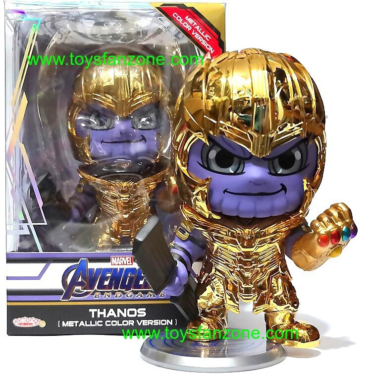 Metallic Color Version Marvel Hot Toys Avengers END GAME Thanos Cosbaby