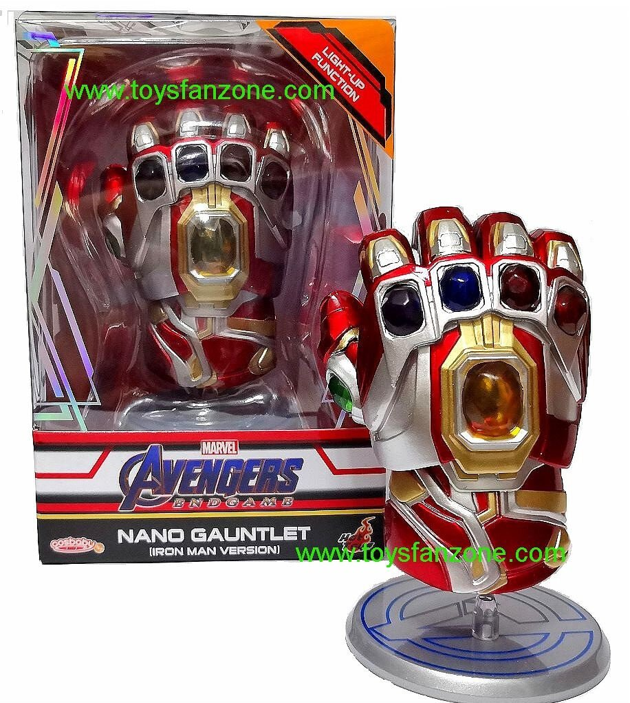 Cosbaby Hot Toys Avengers Endgame COSB646 Nano Gauntlet Iron Man Figure Model