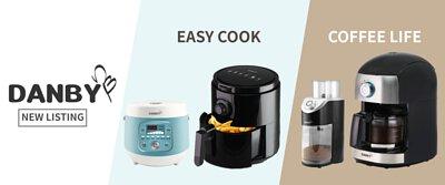 DANBY,丹比,氣炸鍋,電子鍋,咖啡機,磨豆機