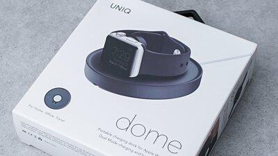 讓AppleWatch放在桌上也美!UNIQ Dome 極簡充電支架