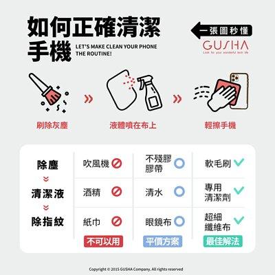 【你知道不能用酒精擦手機嗎?】一張圖秒懂:手機正確清潔工具、超簡單步驟