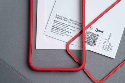 紅色款犀牛盾MODNX手機殼和使用說明書