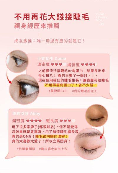 睫毛纖長液親身經歷