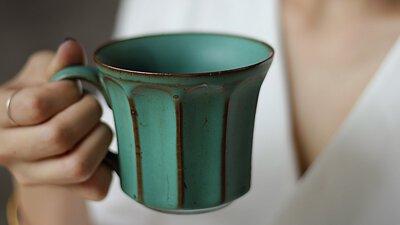 粗陶復古咖啡杯