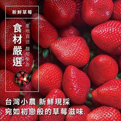 新鮮草莓,台灣小農新鮮現採,宛如初戀般的草莓滋味,產地直送,馥郁果香