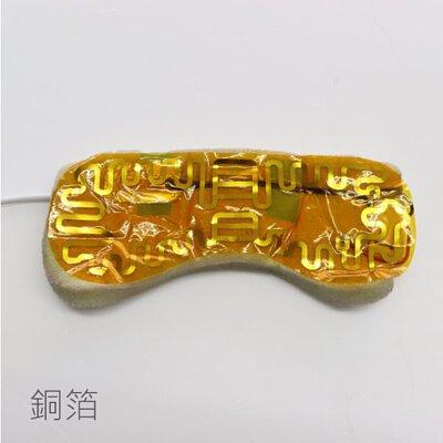 銅箔發熱,貓咪溫熱眼罩即是用銅箔發熱,以物理性的發熱原理,控制溫度,更加安全。