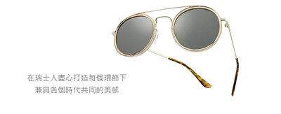 【INVU】瑞士復古雙樑圓框偏光太陽眼鏡聯名款(墨綠) M2802C