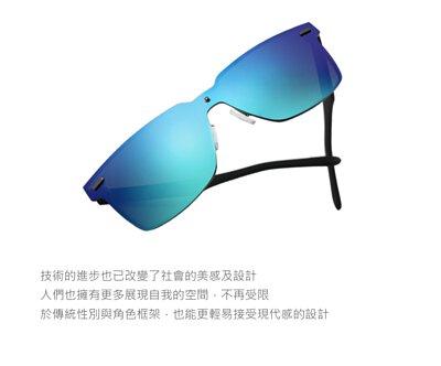 【INVU】瑞士一片式個性水銀綠偏光太陽眼鏡 T1804C