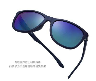 【INVU】瑞士超極化運動感偏光太陽眼鏡(海軍藍) A2800D