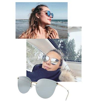 【INVU】瑞士時尚金屬平面水銀偏光太陽眼鏡(金) T1802B