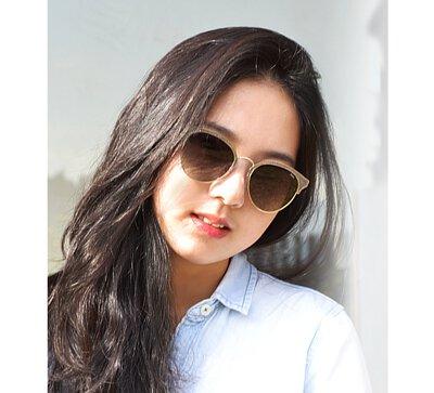 【INVU】瑞士磨砂金邊時尚偏光太陽眼鏡(金)B1918C