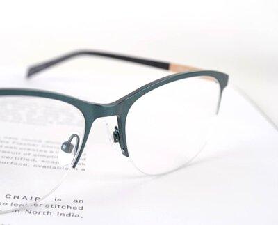 【nine】丹麥輕質記憶β鈦 IBT系列光學眼鏡-灰綠 NI2558 GRN