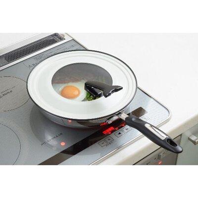 《YOSHIKAWA》日本製可立式強化玻璃鍋蓋(鐵製/適用直徑26-30cm鍋子)