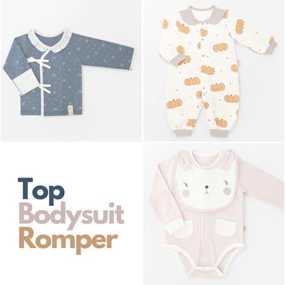 初生和尚袍,夾衣,夾衣裙,蝴蝶衣,連身衣,太空服,newborn top,baby bodysuit,romper,onesie,包屁衣,韓國製造