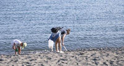 淨灘,垃圾,小孩