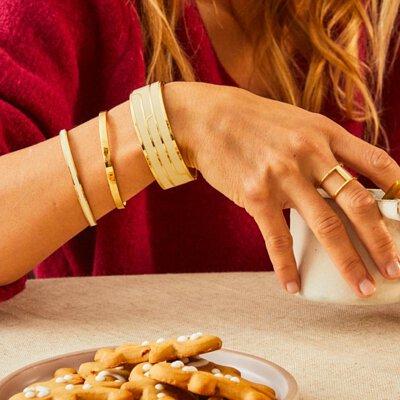 白色飾品,bangle up,手環