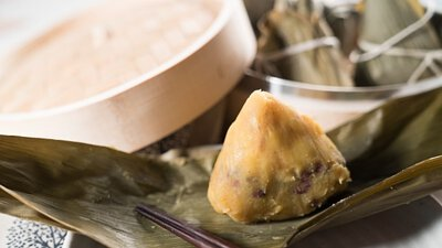 地瓜紅豆粽