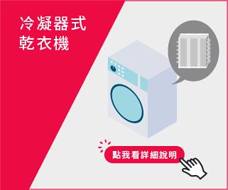 冷凝器式乾衣機