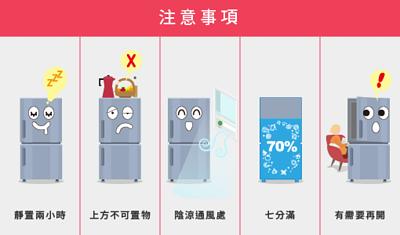 冰箱使用注意事項
