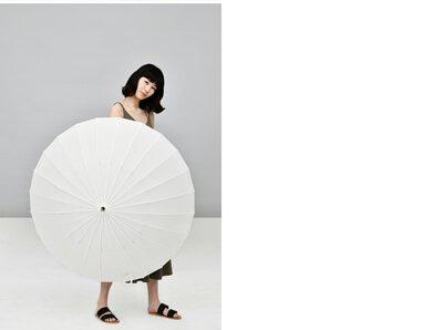 白T般24骨楓木直傘