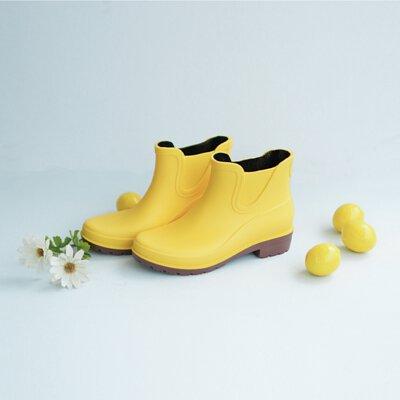 【雨靴日 / 鬱金香黃】京都和風感雨靴