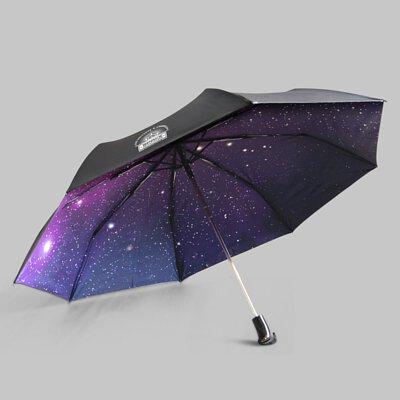 Rainbow House 晴雨傘 飛向宇宙 自動傘 安全開收 超大傘面 星空