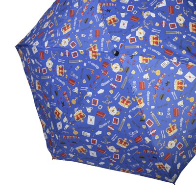 Rainbow House 晴雨傘 俏皮英倫風 自動傘 安全開收 大傘面