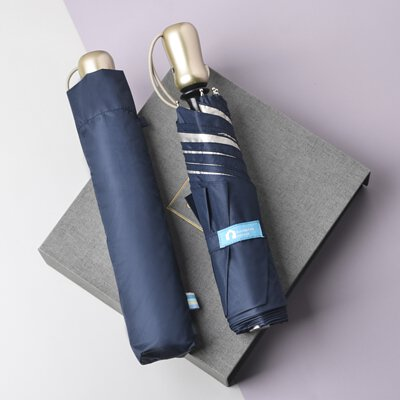 Rainbow House 晴雨傘 純色香檳 自動傘 安全開收 輕量