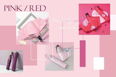 Rainbow House Umbrella 晴雨傘 - 紅粉系 PINK & RED
