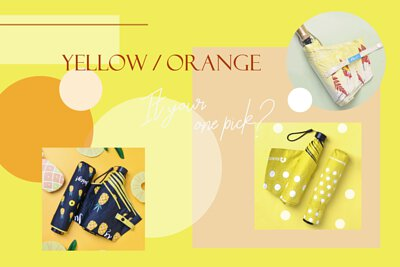 Rainbow House Umbrella 晴雨傘 - 橘黃系 YELLOW & ORANGE
