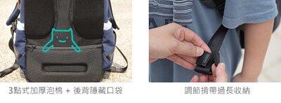 護脊書包加厚泡棉