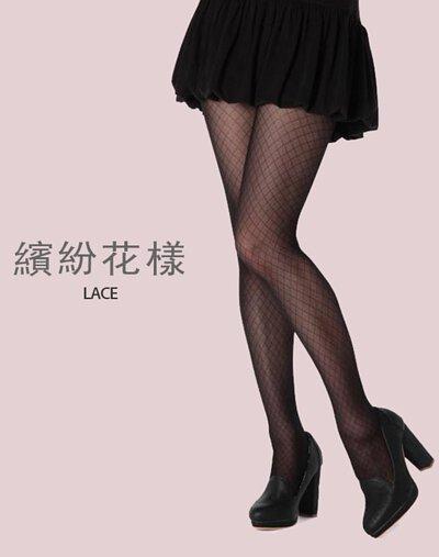 日本FUKUSKE 名模代言絲襪 繽紛花樣 蕾絲