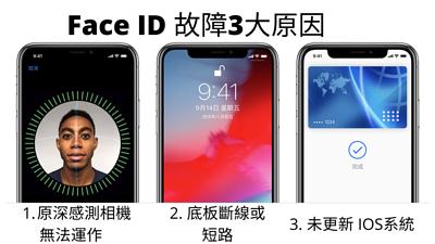 Face ID 故障3大原因