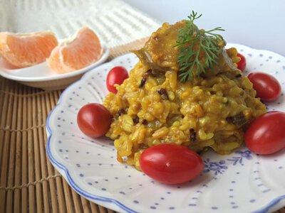 薑黃料理,薑黃粉料理,薑黃燉飯,薑黃飯,薑黃黑胡椒,薑黃素食物