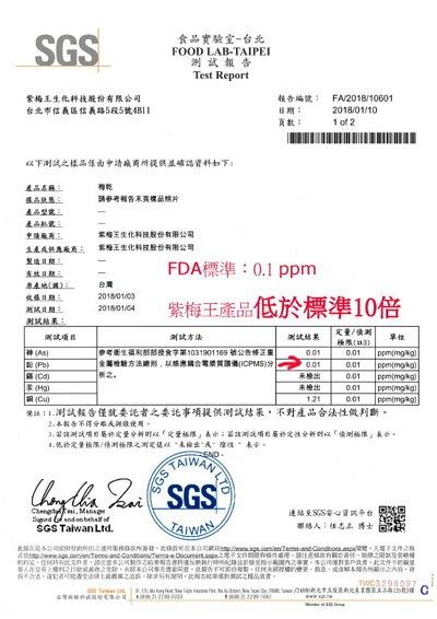 SGS,FDA,鉛含量標準