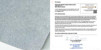 再生皮革 原廠證書