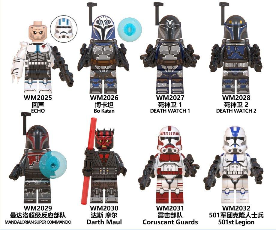8pcs Lot Star Wars Echo Darth Maul Death Watch