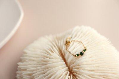 悄悄細語 寶石鍊戒|Miestilo Jewelry設計師輕珠寶品牌|舒飾質感每一刻